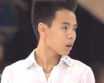 ナム・グエン スケートカナダ2015 フリー演技 (解説:イギリス英語・ロシア語・中国語・カナダ英語・アメリカ英語)