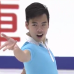 ナム・グエン NHK杯2016 ショート演技 (解説:ロシア語・イギリス英語)