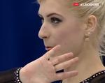 エリスカ・ブレジノワ 欧州選手権2016 ショート演技 (解説:イギリス英語・ロシア語)