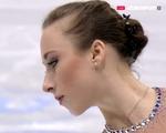 ナタリー・ヴァインツィアール 欧州選手権2016 フリー演技 (解説:ロシア語・イギリス英語・スペイン語)