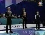 ソルトレイクシティオリンピック2002 男子シングル表彰式 (解説:アメリカ英語)