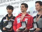世界選手権2015 男子シングルFS後スモールメダル授与式 (ホームビデオ撮影)