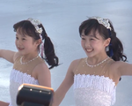 本田望結&紗来 姉妹でスケート初滑り (2016/1/4)