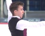 アレキサンダー・ボロヴォイ JGPクロアチア杯2015 フリー演技 (解説:英語)