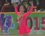 青木祐奈 アジアフィギュア杯2015 フリー演技 (ホームビデオ撮影)