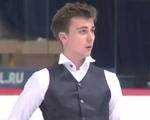 アレキサンダー・ボロヴォイ JGPクロアチア杯2015 ショート演技 (解説:英語)