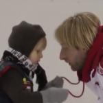 サーシャ君(4歳)、父親エフゲニー・プルシェンコからスケートレッスン (2017/2/2)