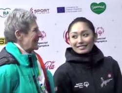 安藤美姫&トリクシー・シューパ スペシャルオリンピックス冬季世界大会2017