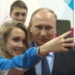 エレーナ・ラディオノワ、プーチン大統領と自撮り (2017/3/1)