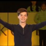 曹志禕[ソウ・シイ] 世界ジュニア選手権2017 エキシビション演技 (解説:中国語)