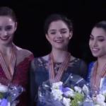 世界選手権2017 女子シングル表彰式 (解説:ロシア語)