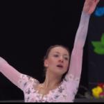 ニコル・ショット 世界選手権2017 フリー演技 (解説:ロシア語)