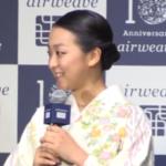 浅田真央 着物姿で登場・「エアウィーヴ」記念パーティー新CMの発表会 (2017/6/19)