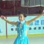 山下真瑚 アジアフィギュア杯2017 ショート演技 (ホームビデオ撮影)