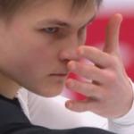 ミハイル・コリヤダ 欧州選手権2018 ショート演技 (解説:ロシア語・イギリス英語)
