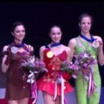 欧州選手権2018 女子シングル表彰式 (解説:ロシア語)