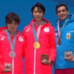平昌オリンピック 男子シングルメダル授与式 (解説:なし)