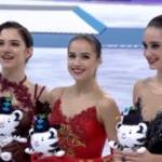 平昌オリンピック 女子シングル表彰式 (解説:なし)