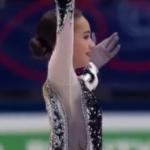 アリーナ・ザギトワ 世界選手権2018 ショート演技 (解説:ロシア語)