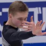 ミハイル・コリヤダ 世界選手権2018 ショート演技 (解説:ロシア語)