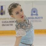 アレーナ・カニシェワ Children of Asia Games 2019 フリー演技 (解説:ロシア語)