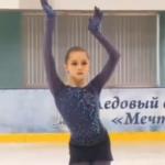 カミラ・ワリエワ モスクワジュニア選手権2019 ショート演技 (解説なし)