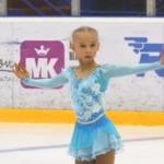 ベロニカ・ジリナ ロシアユース選手権2019 ショート演技 (解説なし)