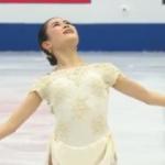 宮原知子 世界選手権2019 ショート演技 (解説:ロシア語)