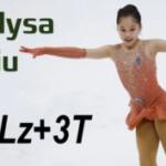 アリサ・リュウ 4回転ルッツ-3回転トゥループの練習 (2019/5)