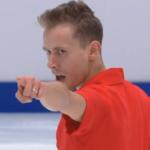 ミハル・ブジェジナ 欧州選手権2020 ショート演技 (解説:英語)