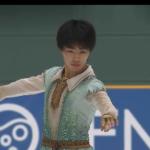 2020年全国中学校スケート大会 男子シングル フリー演技 (解説:日本語)