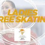 【動画フルVer.】世界ジュニア選手権2017 女子シングルフリー演技 (解説なし)