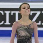アンナ・シェルバコワ 世界選手権2021 フリー演技 (解説:ロシア語)