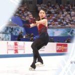 紀平梨花 国別対抗戦2021 ショート演技 (解説:ロシア語)