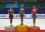 中国杯2013 表彰式  アンナ・ポゴリラヤ アデリーナ・ソトニコワ カロリーナ・コストナー