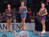 スケートアメリカ2014 表彰式 エレーナ・ラジオノワ エリザベータ・トゥクタミシェワ グレイシー・ゴールド