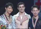 世界選手権2015 表彰式 ハビエル・フェルナンデス 羽生結弦 デニス・テン